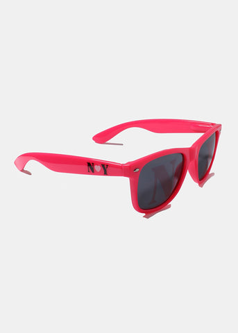 NY Square Sunglasses- Pink