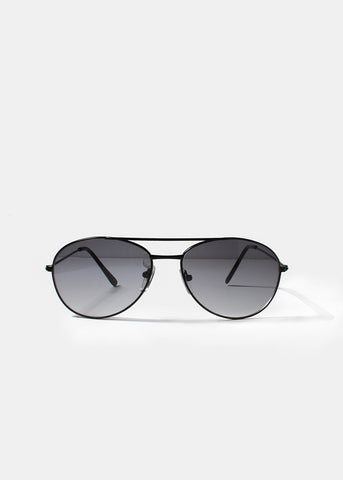Classic Aviator Sunglasses- Black