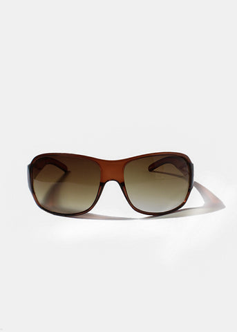 Modern Oversized Sunglasses- Brown