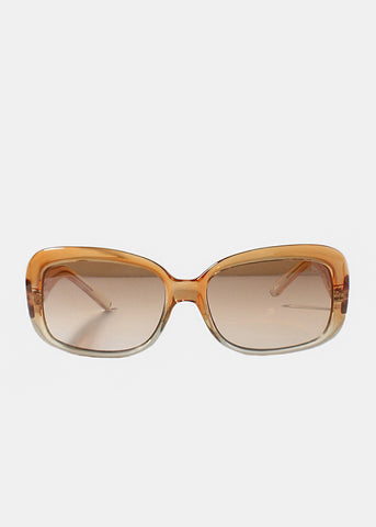 Modern Two-Tone Sunglasses- Orange
