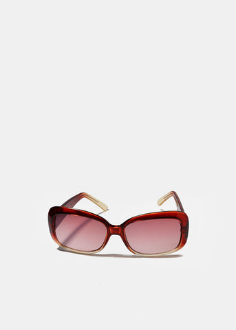 Modern Two-Tone Sunglasses- Pink/Clear