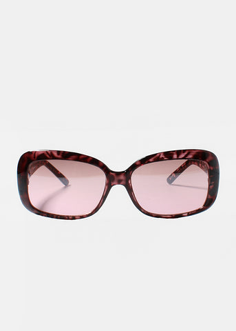 Modern Two-Tone Sunglasses- Pink