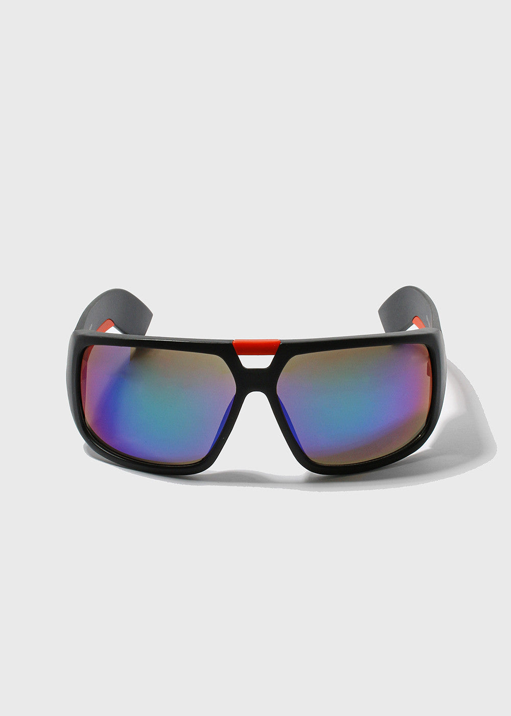 Modern Square Sporty Sunglasses- Multi