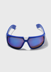 Modern Square Sporty Sunglasses- Blue