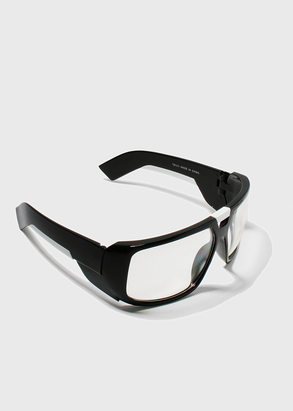 Modern Square Sporty Sunglasses- Clear