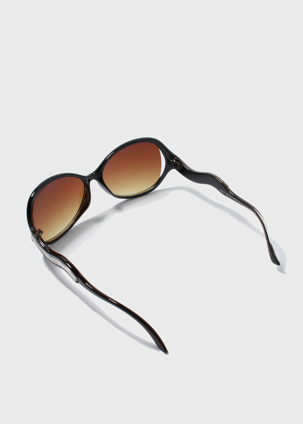 Wavy Temple Sunglasses- Brown
