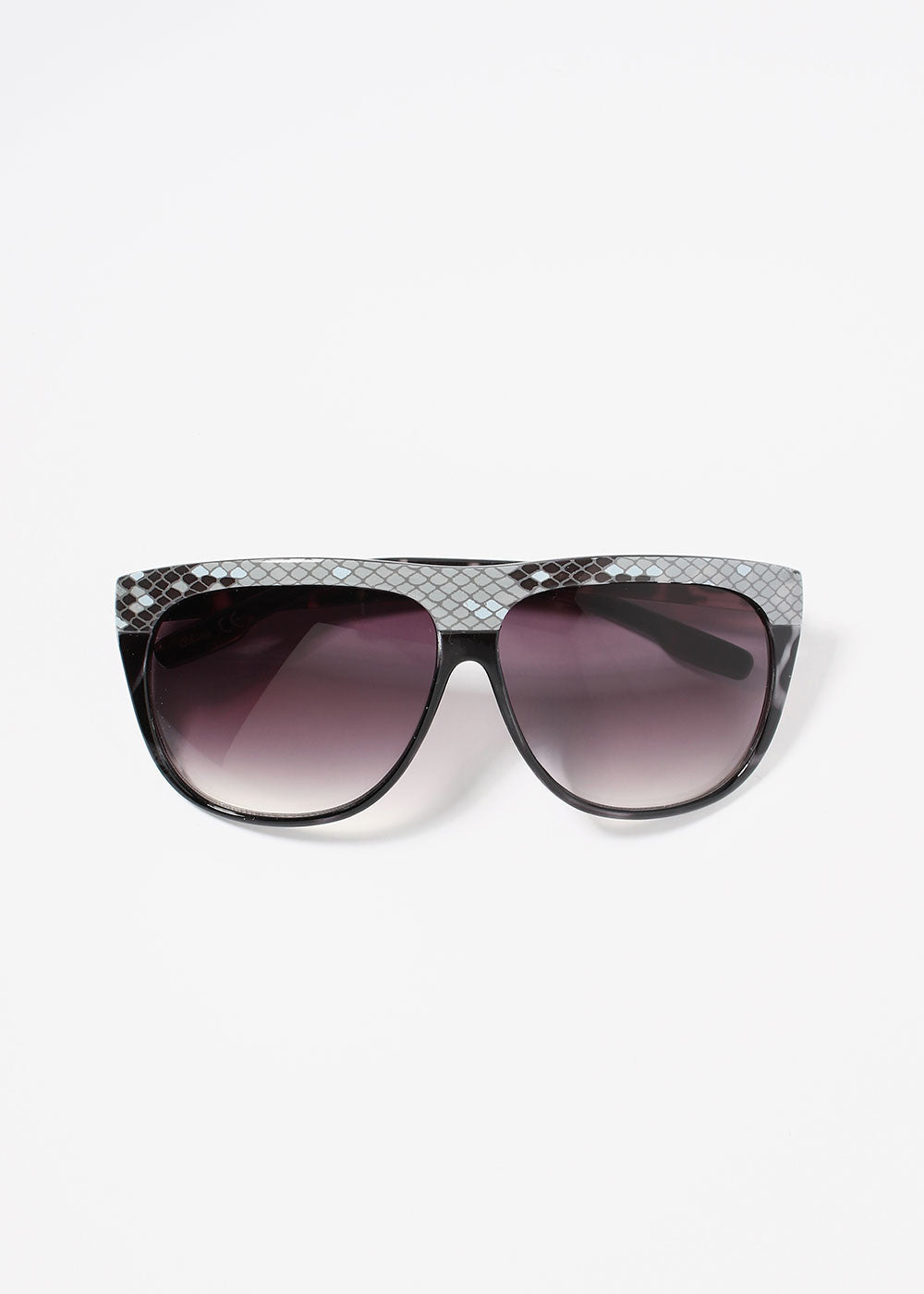 4ed26e14a6 Modern Snakeskin Sunglasses- Black – Shop Miss A