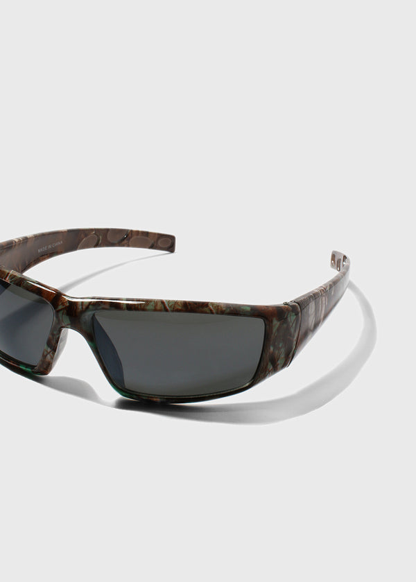 Camo Sport Sunglasses- Green