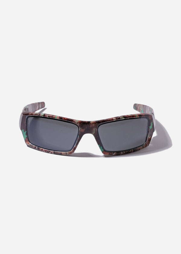 Rectangle Camo Sunglasses- Green