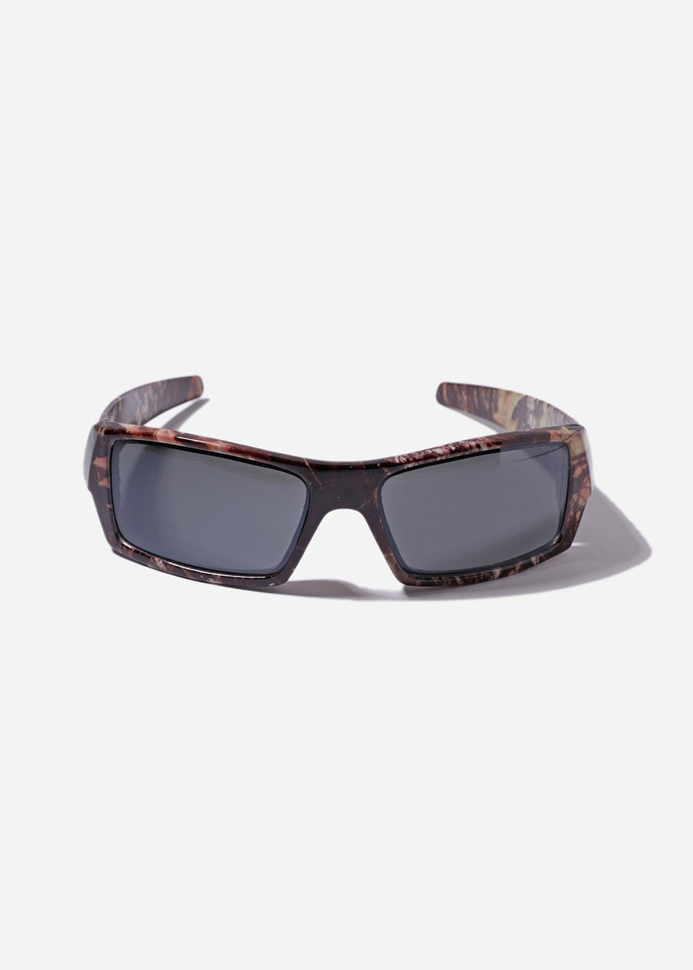 Rectangle Camo Sunglasses- Brown