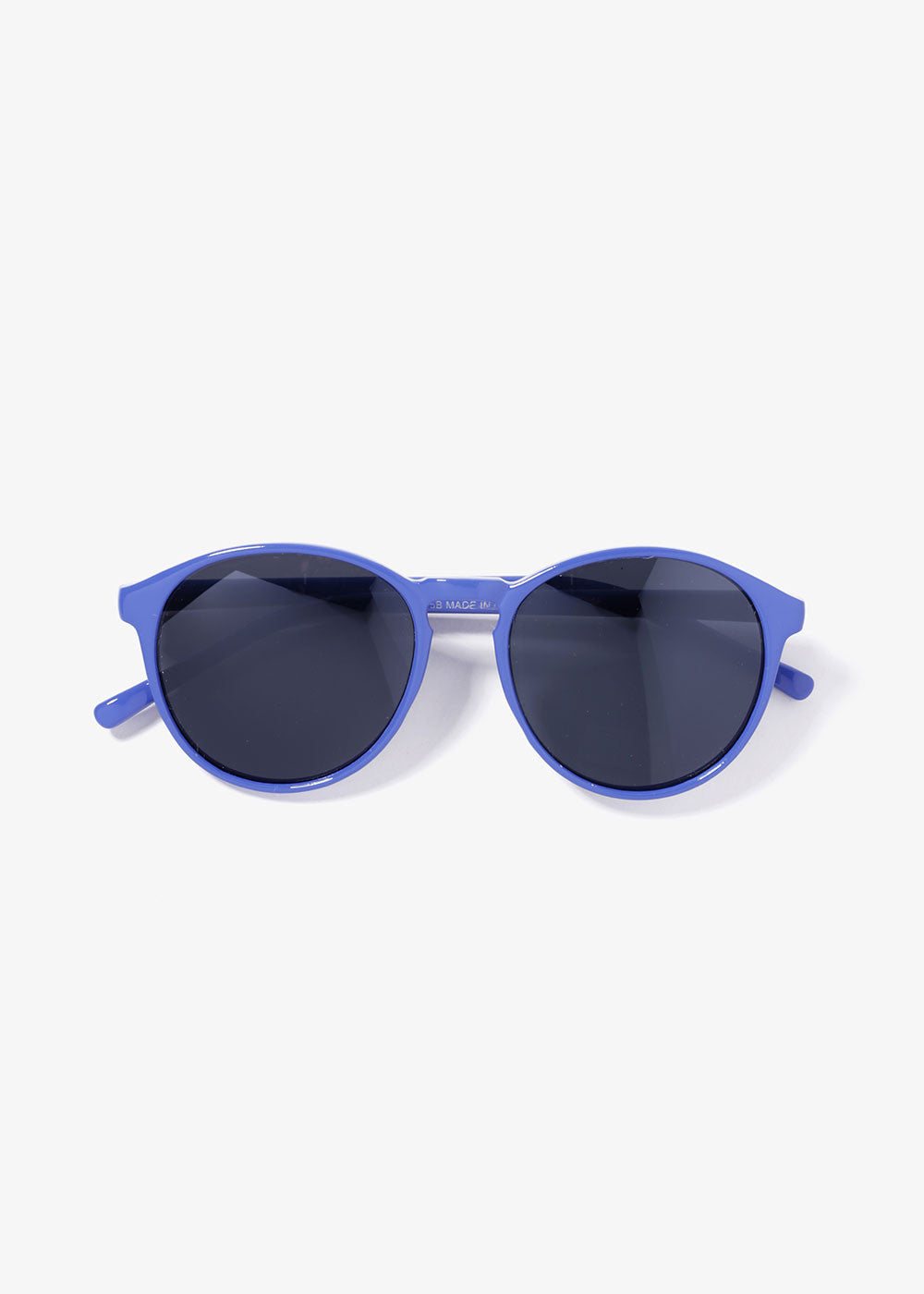 Bright Color Round Sunglasses- Blue