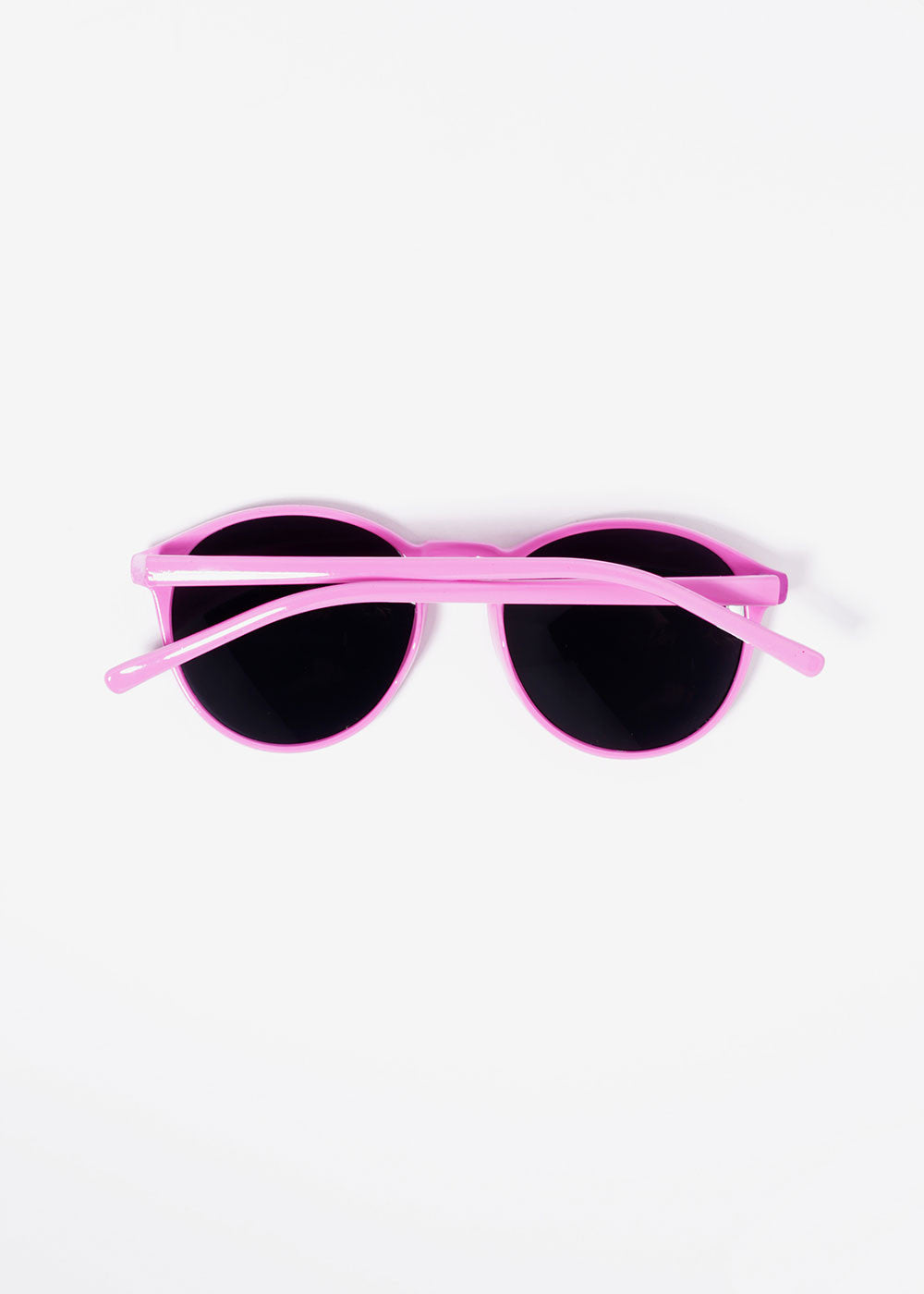 Bright Color Round Sunglasses- Pink