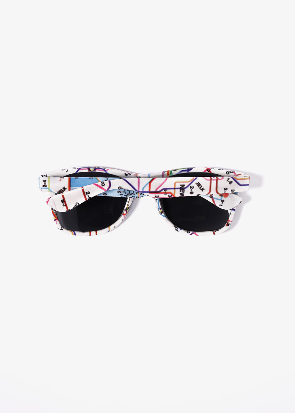 7e0a0d399e Map Print Sunglasses- White – Shop Miss A