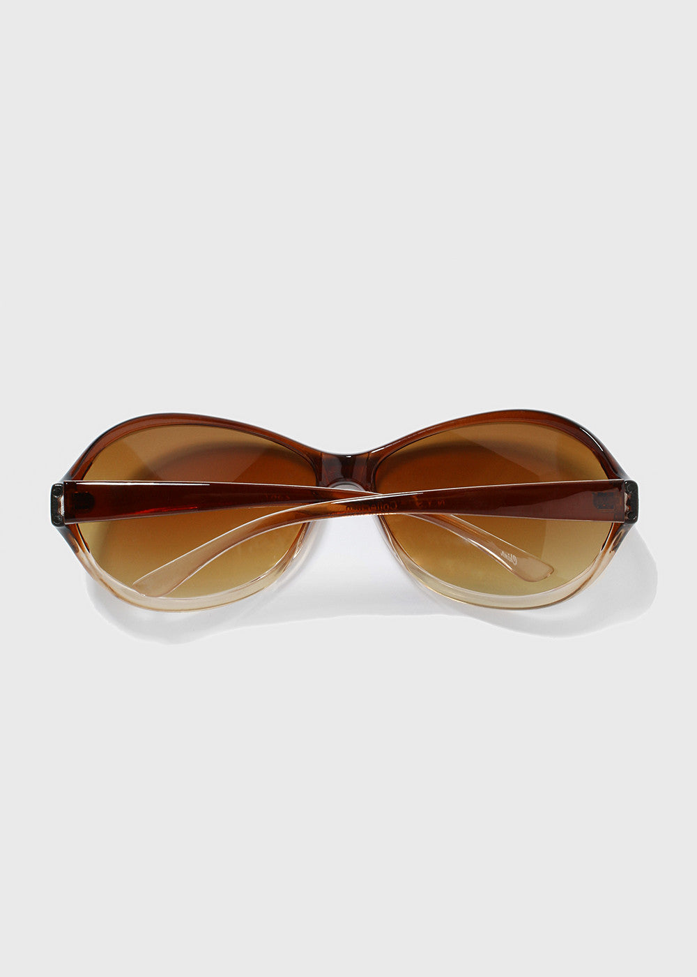 Oval Sunglasses- Beige