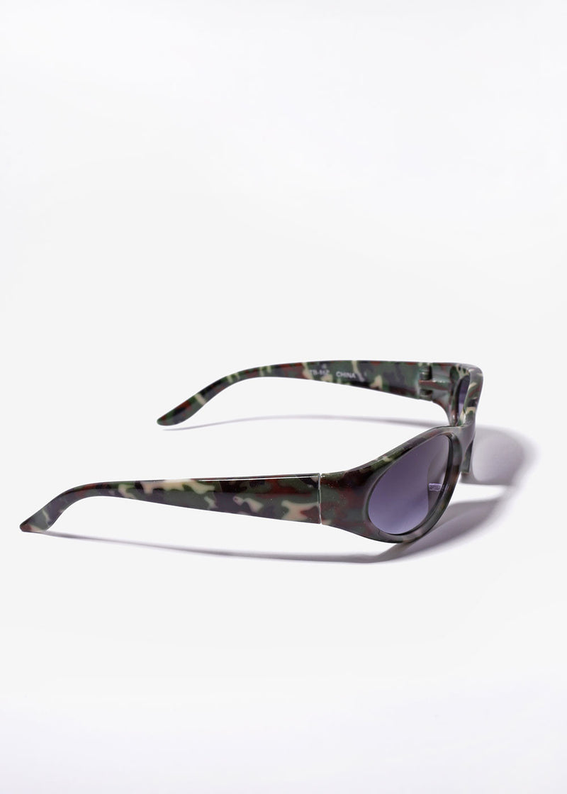 Animal Print Sunglasses- Green