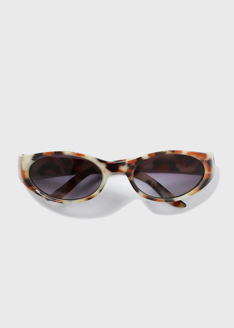 Animal Print Sunglasses- Cream