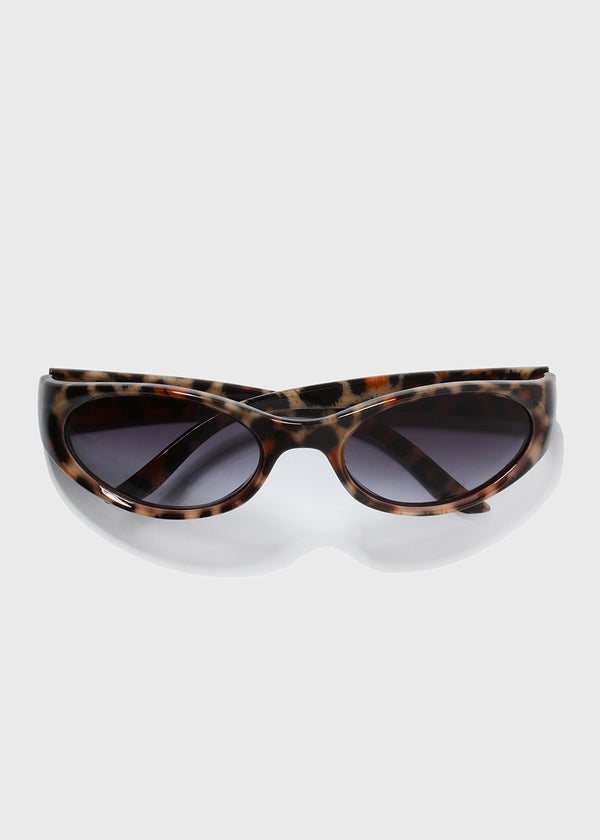 Animal Print Sunglasses- Beige
