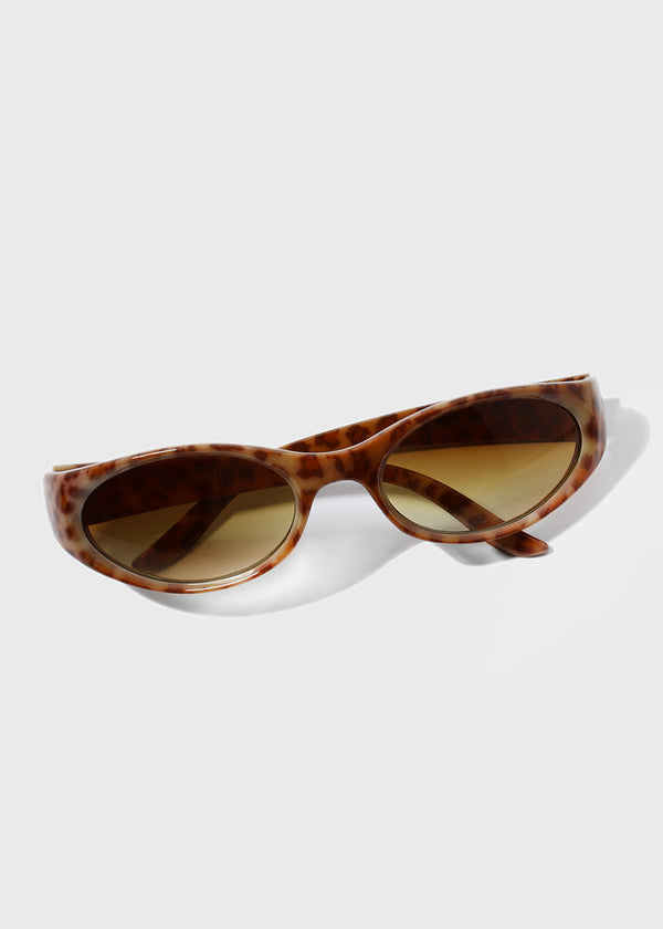 Animal Print Sunglasses- Light Brown