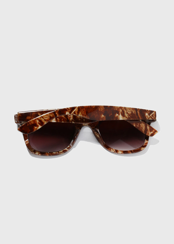 Camo Sunglasses- Dark Brown