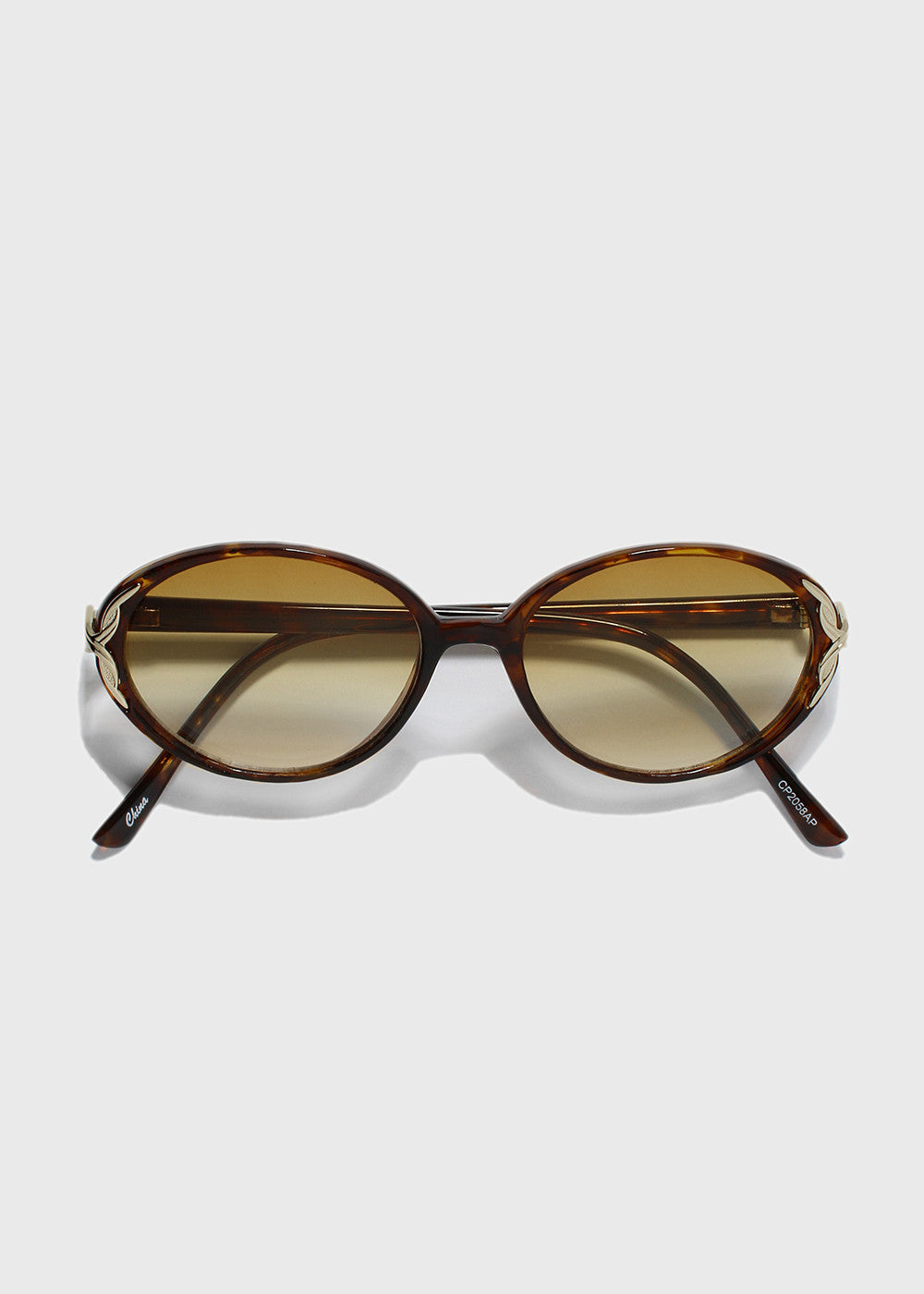 Oval Vintage Design Sunglasses- Tortoise