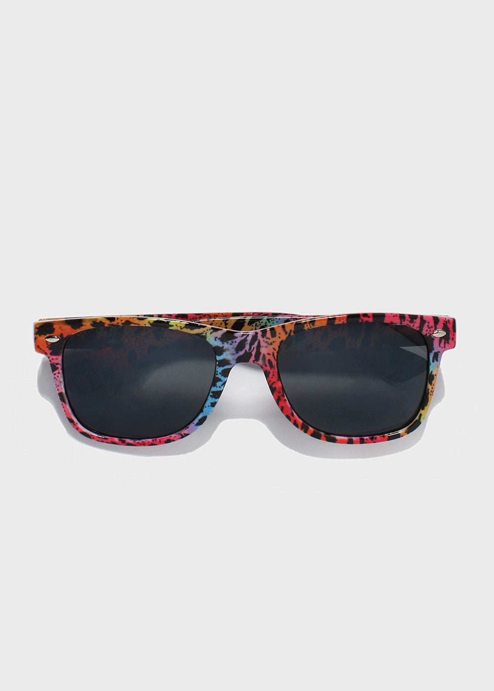 Multi-Color Animal Print Sunglasses- Multi