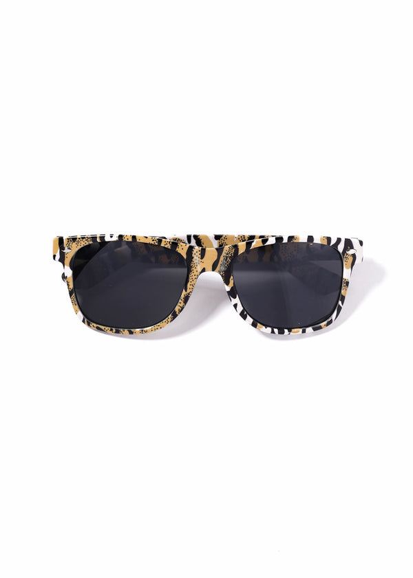 Multi-Color Animal Print Sunglasses- Yellow