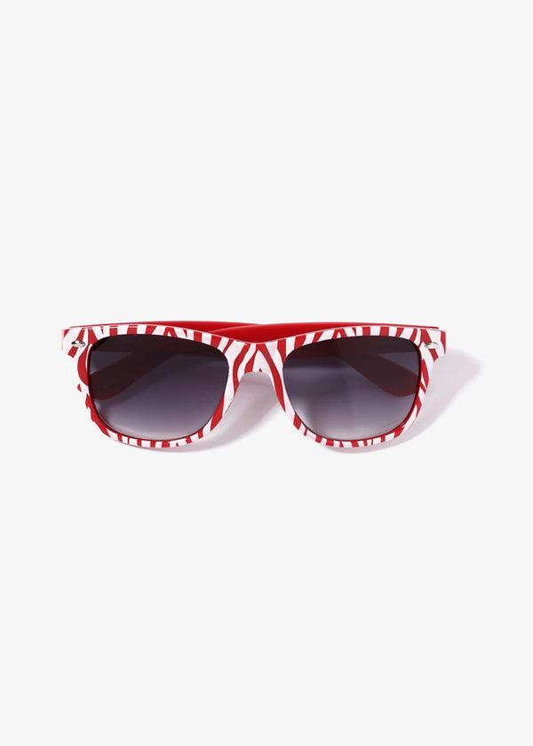 Zebra Print Sunglasses- Red