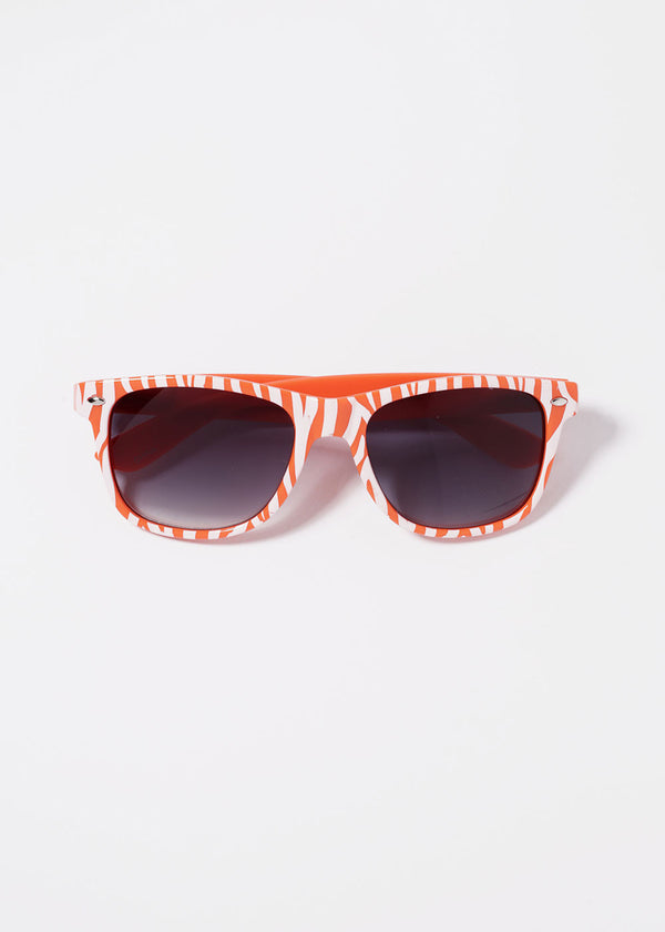 Zebra Print Sunglasses- Orange