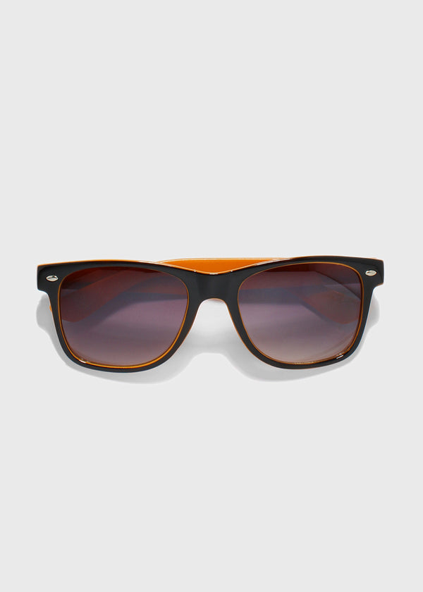 Two-Tone Square Sunglasses- Orange