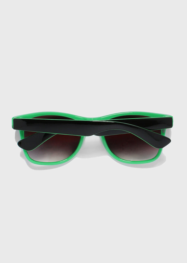 Two-Tone Square Sunglasses- Green