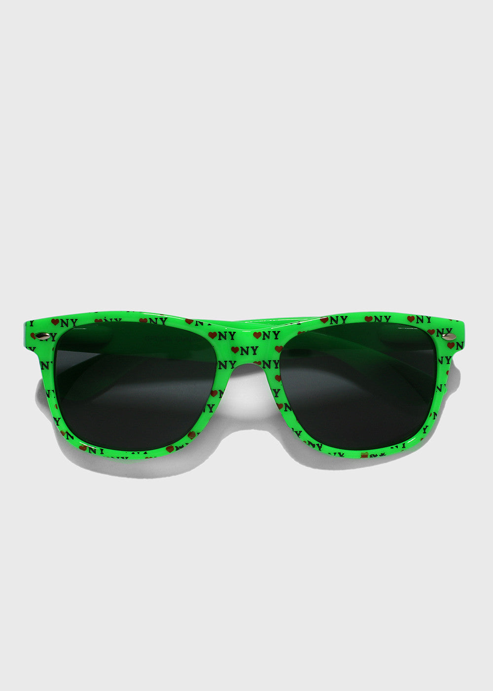 NY Print Sunglasses- Green