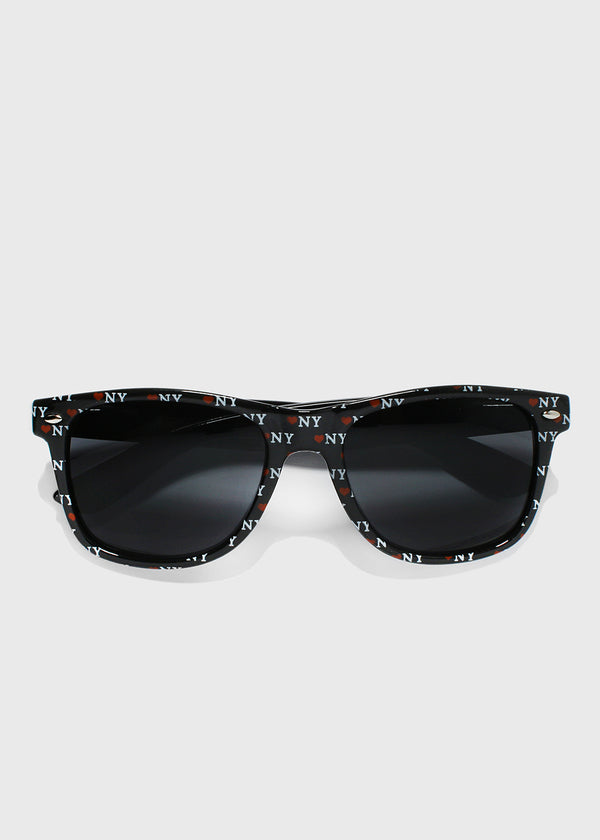 NY Print Sunglasses- Black