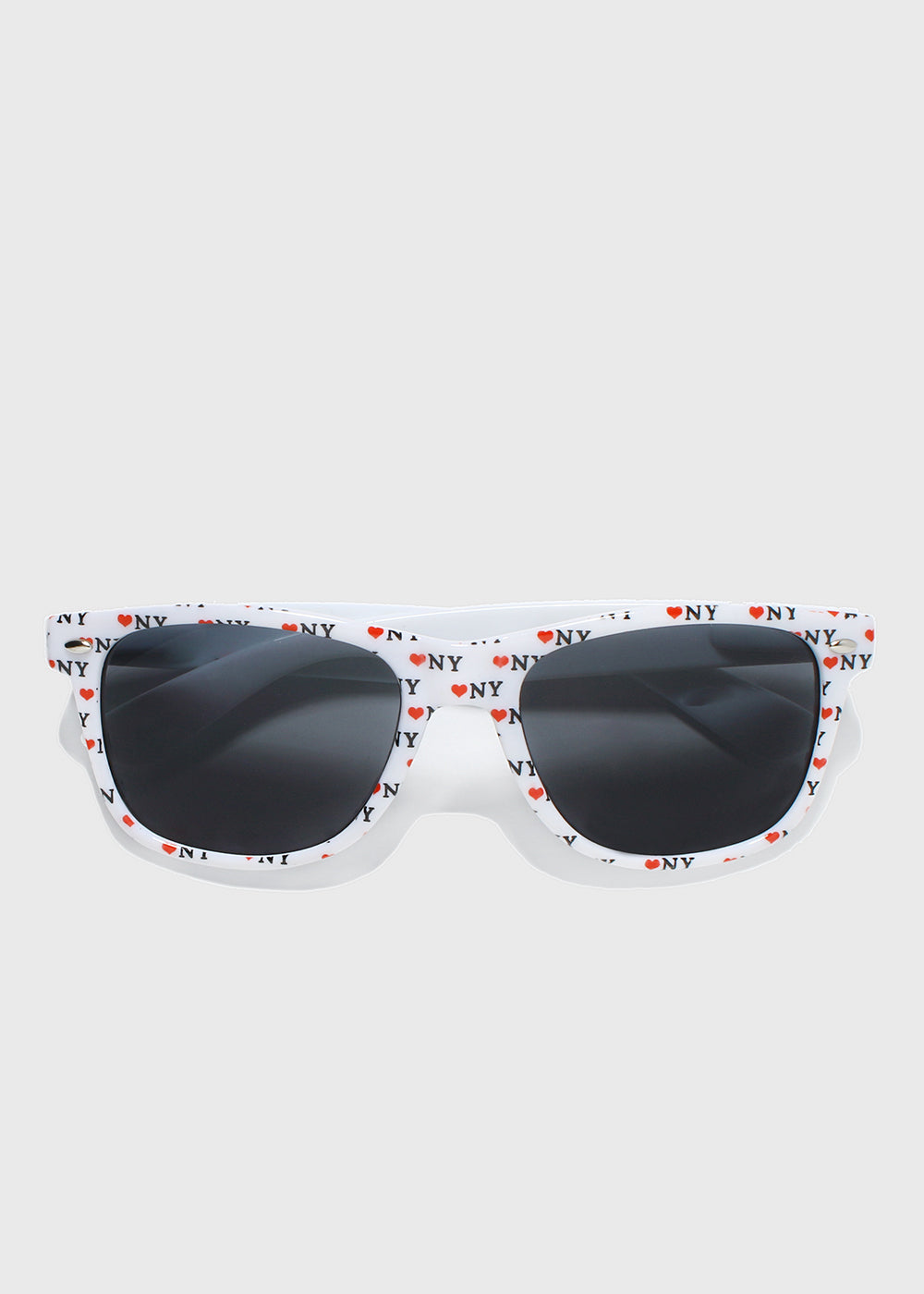 NY Print Sunglasses- White