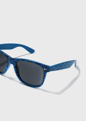 NY Print Sunglasses- Blue