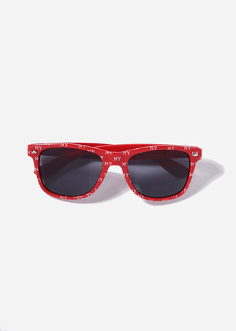 NY Print Sunglasses- Red