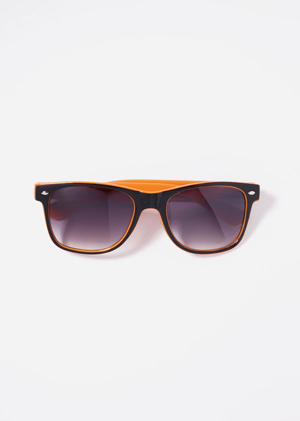Two-Tone Letter Print Sunglasses- Orange
