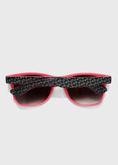 Two-Tone Letter Print Sunglasses- Pink