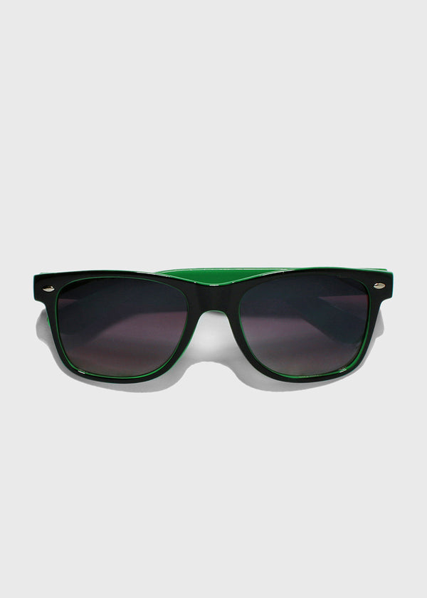 Two-Tone Letter Print Sunglasses- Green