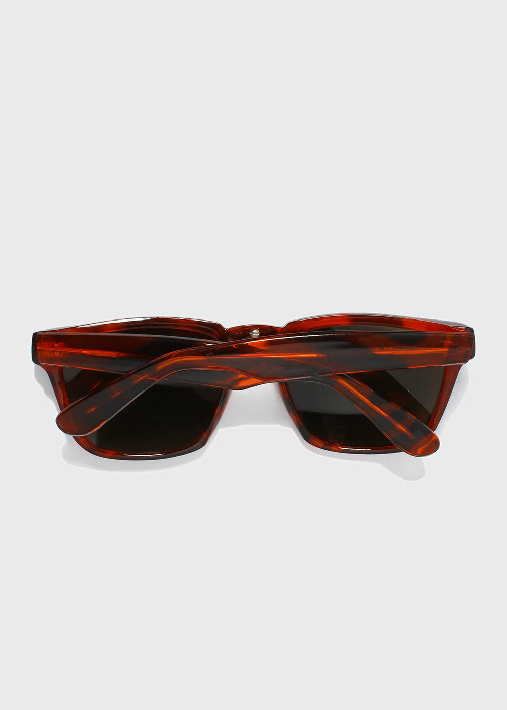 Chrome Detail Square Sunglasses- Red/Tortoise