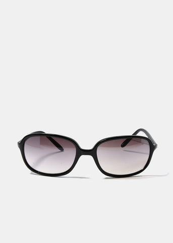 Modern Square Frame Sunglasses- Black