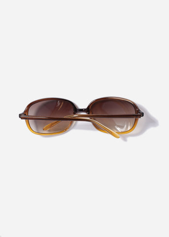 Modern Square Frame Sunglasses- Brown