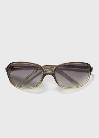 Modern Square Frame Sunglasses- Black/Clear