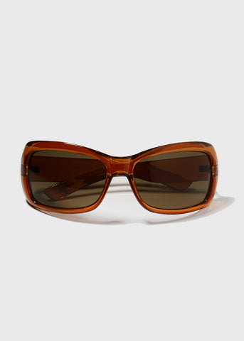 Oversize Square Sunglasses- Orange