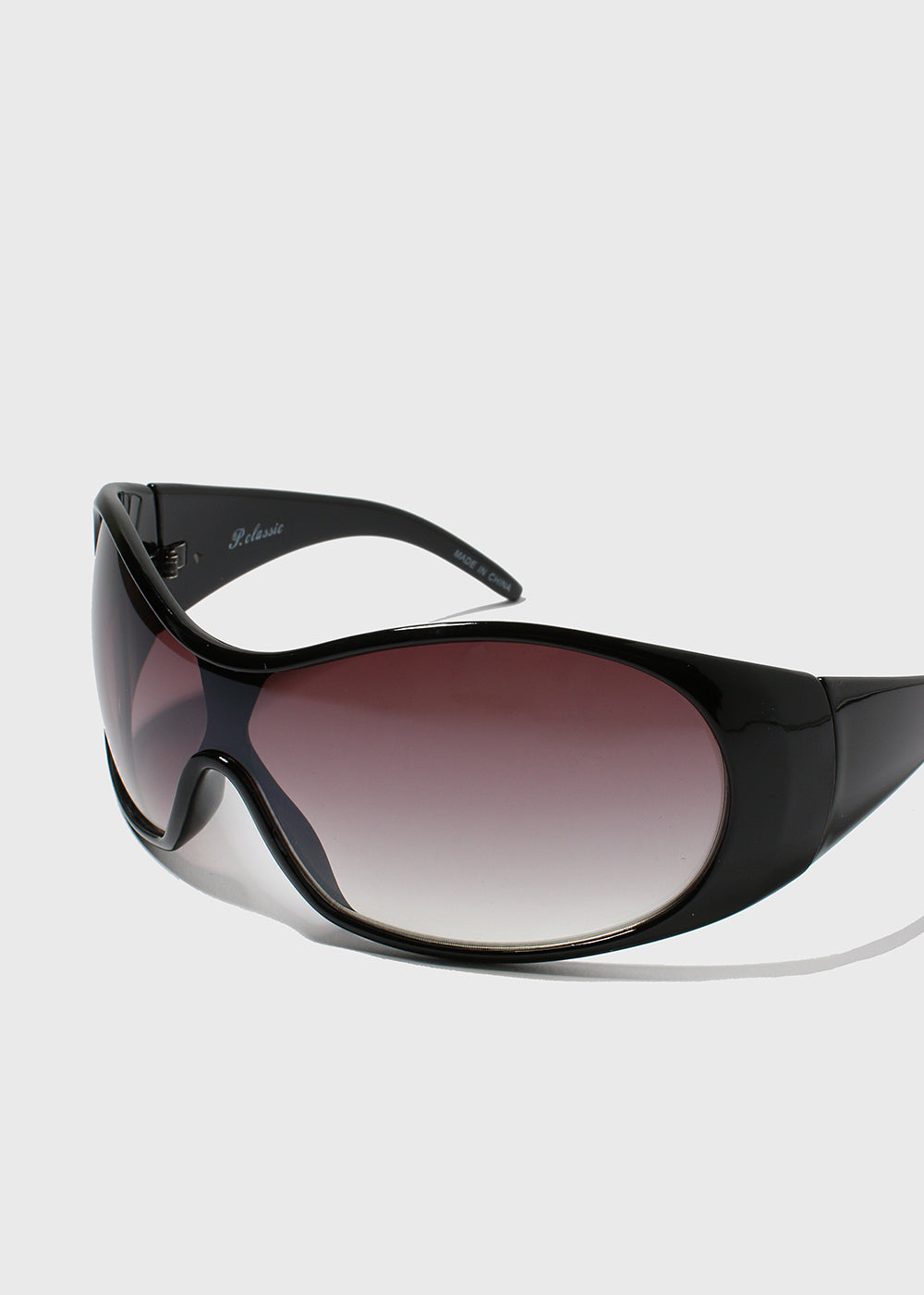 Oversize Round Sunglasses- Black
