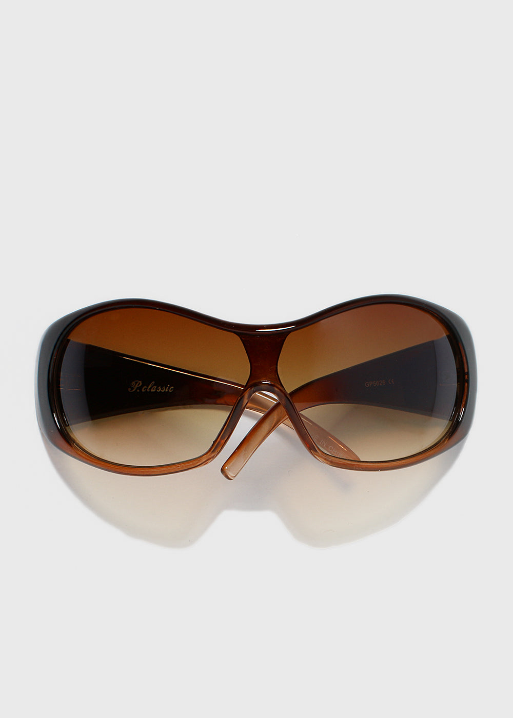 Oversize Round Sunglasses- Brown