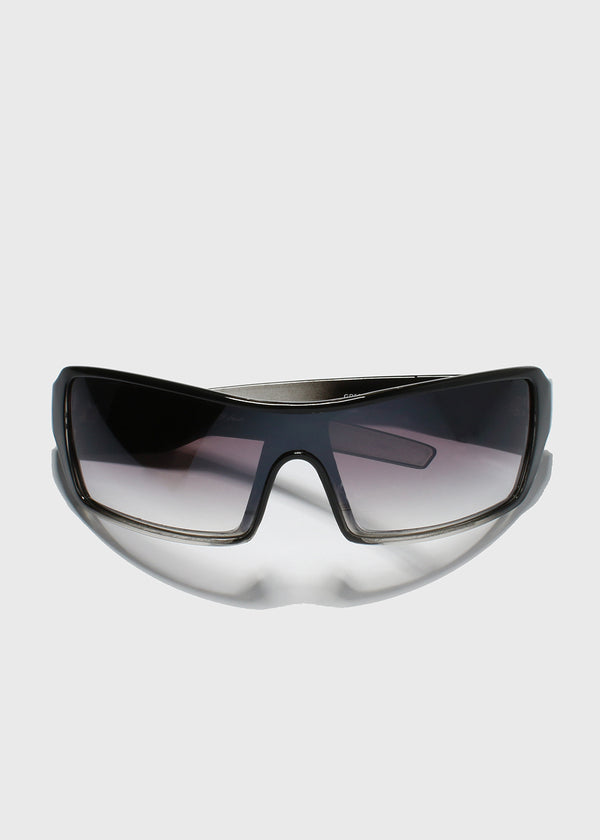 Oversize Square Sunglasses- Black