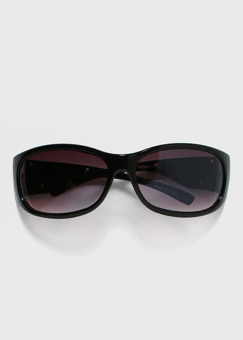 Silver Flame Sunglasses- Black
