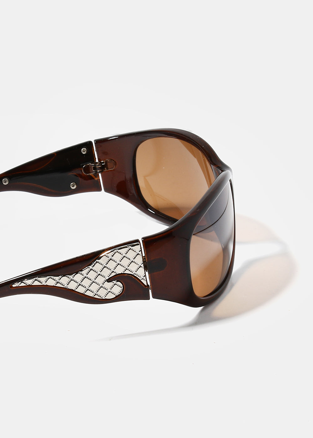 Silver Flame Sunglasses- Brown
