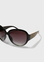 Designer-Inspired Oversize Sunglasses- Black