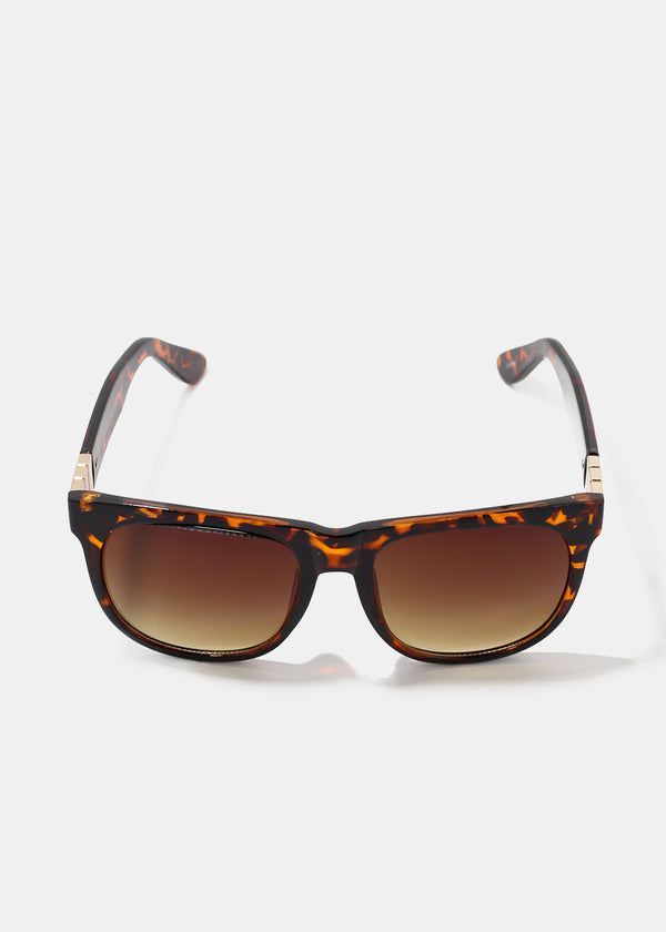 Gold Detail Wayfarer Sunglasses